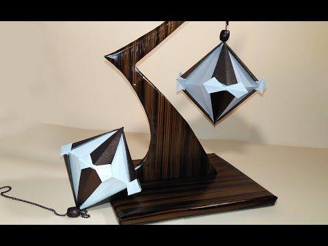 Origami kusudams - diamond. Handmade stress-relieving table decoration. DIY Valentine gift ideas.