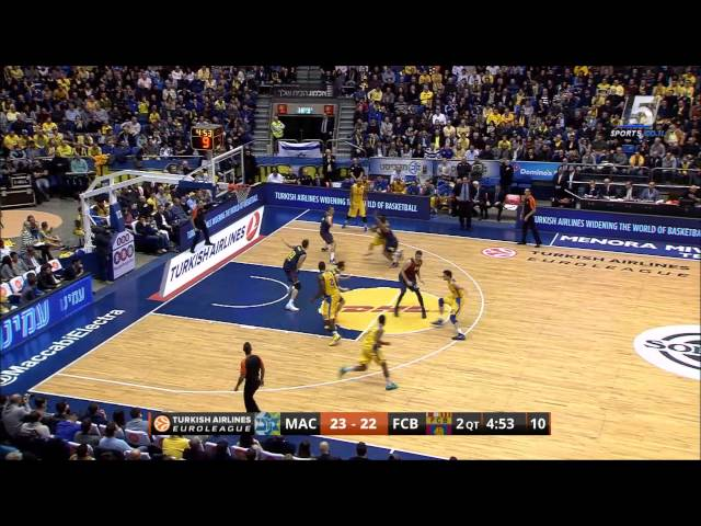 Euroleague Top 16 Game 3: Maccabi Electra Tel Aviv - Barcelona 70:68