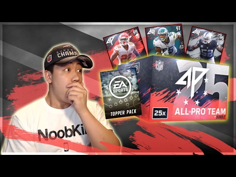 TWO 25X ALL PRO TEAM BUNDLES!! PLUS ALL PRO ELITE PLAYER SETS!! MADDEN MOBILE 17