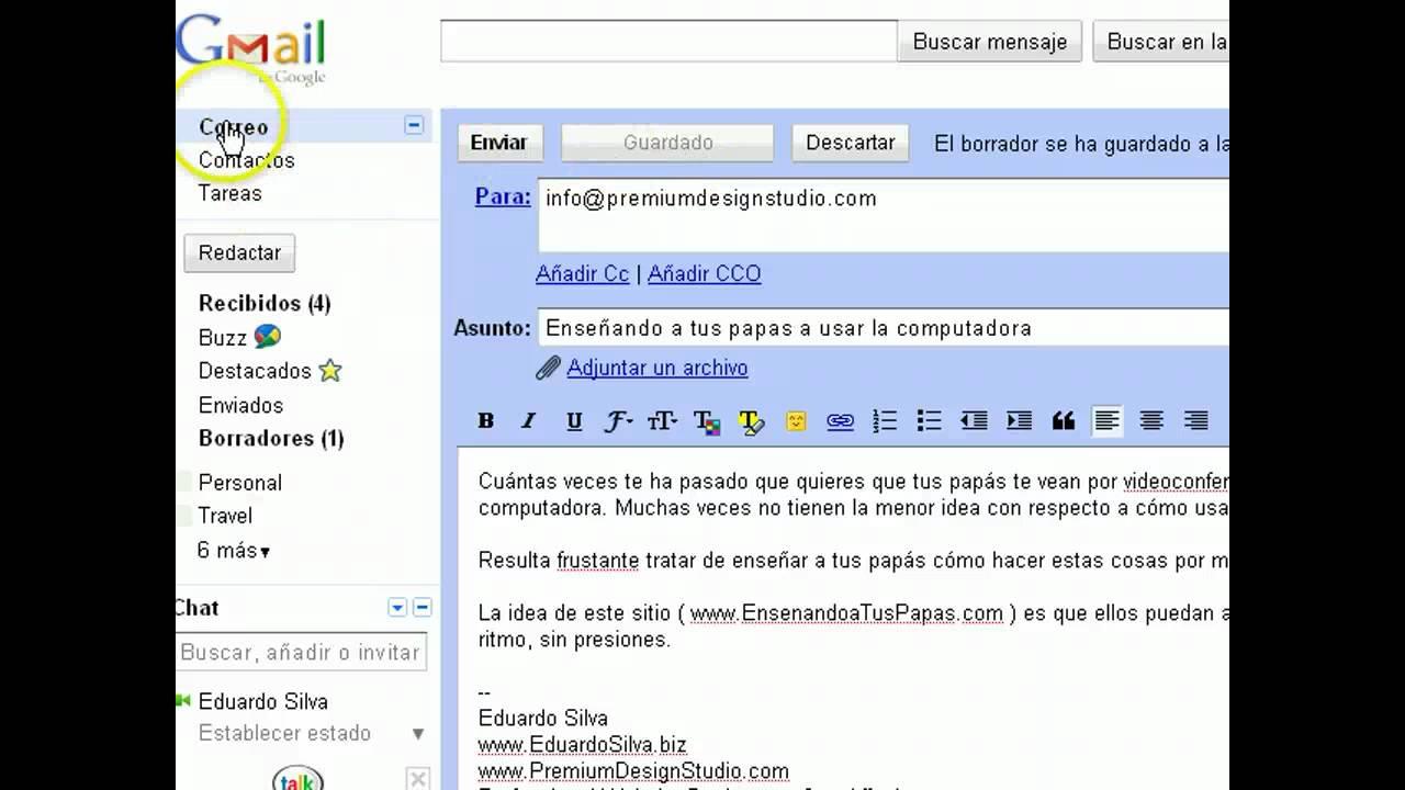 Cómo Mandar O Enviar Un Correo Electrónico Con Gmail Youtube
