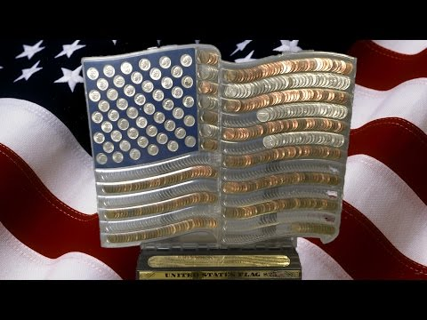 3-D Coin Art United States Flag from NSI International