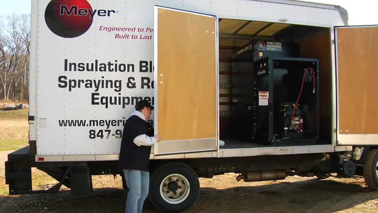 Meyer Series 500 Insulation Blowing Machine Youtube