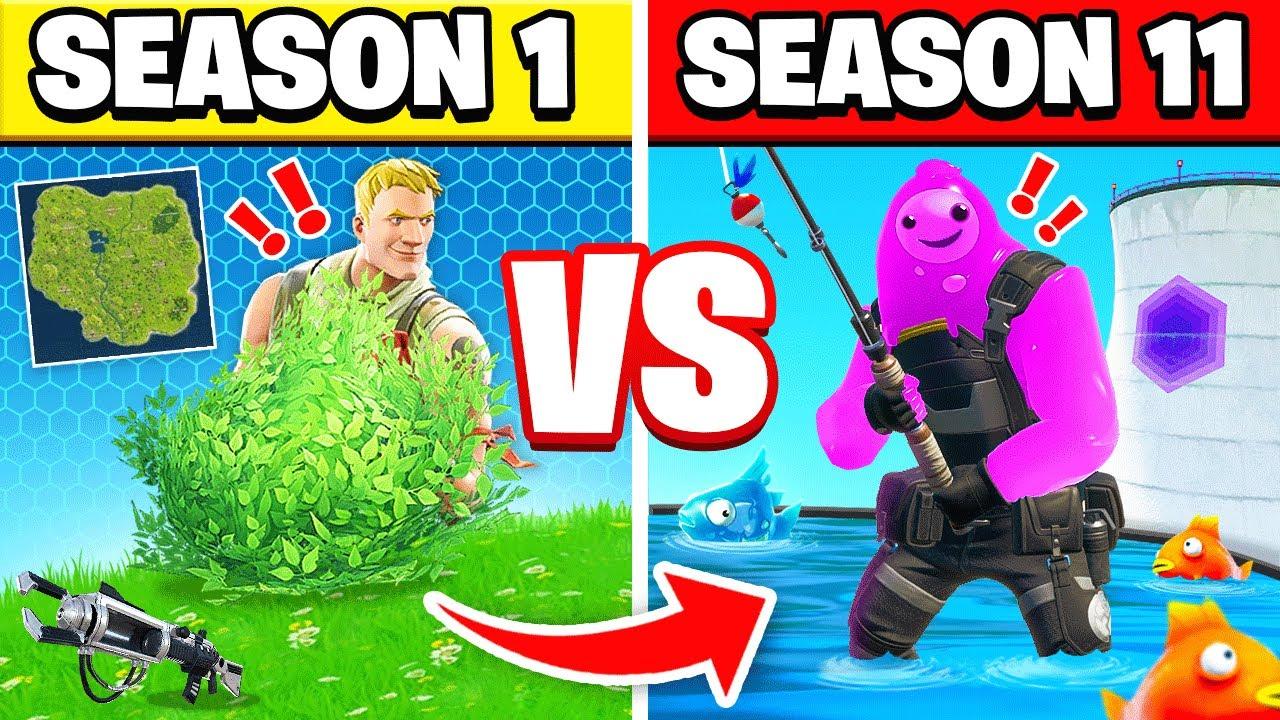 FORTNITE Season 1 vs Season 11 - YouTube