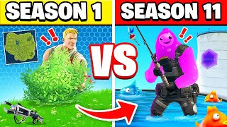 SEASON 1 VS SEASON 10! SO MUCH CHANGED!! (Fortnite)