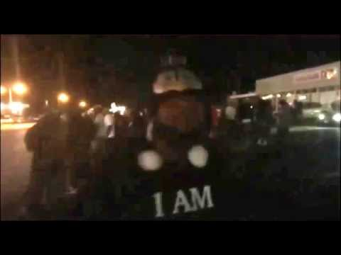 'Protestor' talks about his 38 and shooting a cracker during Ferguson protest Sep 24 2014