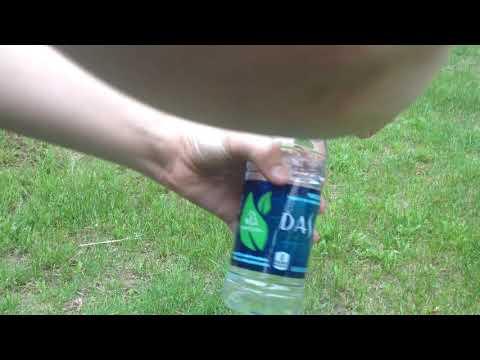 I Open Dasani Water Bottle