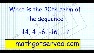 Sequences And Series Al2 Finding Nth Term Common Difference Explicit Formula