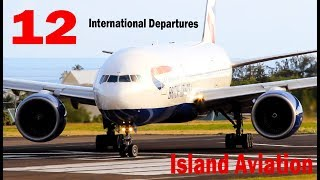 (12) International Departures !!!  AA 737 - A319, 757, DA A319 - 739, UA 738,  BA 777..@ St .Kitts