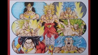 Drawing the Evolution of Broly the Legendary Super Saiyan