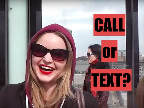 Call or text? A female opinion [Authentic Man Within]