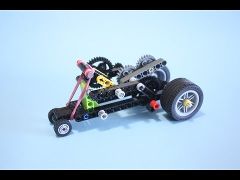 Rubber Band Car based on LEGO EDU Renewable Energy Set