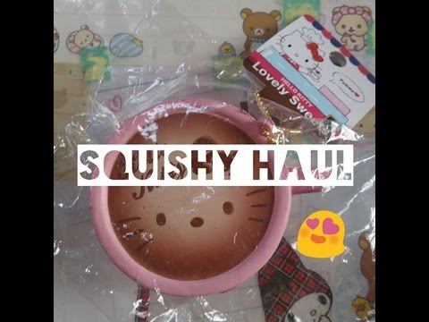 Squishy Haul 2015 : Squishy Haul: HK Lovely Sweets, Ibloom & More! (o??`o) - YouTube