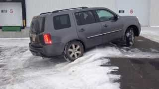 honda pilot 2014 4wd vtm-4 lock diagonnal test in snow