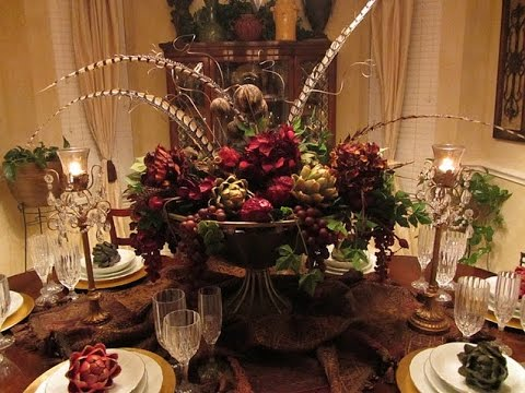 fall centerpieces for dining room table | Dining Room Table Centerpieces Ideas - YouTube