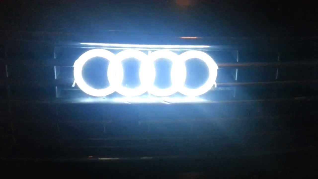 Audi A4 B6 4d LED Emblem badges ebay id bagger_beast - YouTube