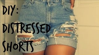 DIY: Distressed Shorts | From Pants to Shorts | Ro Edition