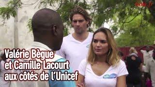 Camille Lacourt et Valérie Bègue, ensemble aux côtés de l'Unicef