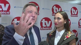 TV Choice Awards: Ed Balls sports gash on forehead after walking into a door