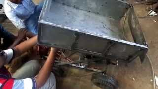 Mechanical engineering students projects--Hyd dumper mechanism for tractor tipper