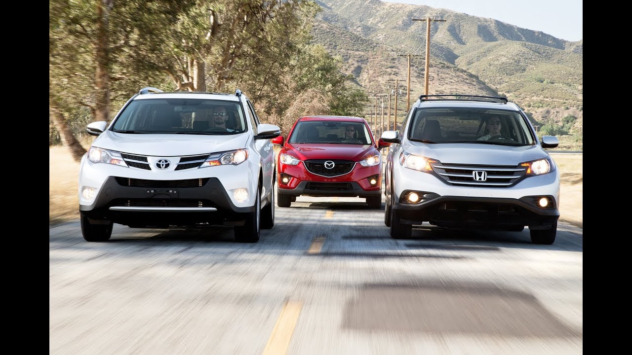 Toyota rav4 vs honda cr v vs mazda cx 5 compact for Honda crv vs toyota rav4 2014