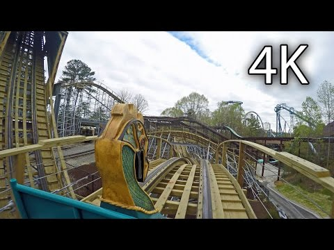 InvadR front seat on-ride 4K POV Busch Gardens Williamsburg