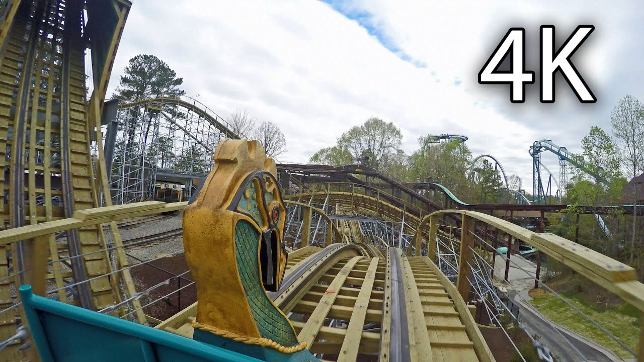 InvadR Front Seat On Ride 4K POV Busch Gardens Williamsburg