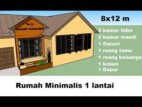 ep 4 inspirasi desain minimalis 8x12 m 1 lantai luas