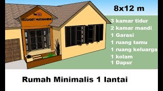 Desain Rumah Minimalis 2 Lantai 8 X 12 Free Online Videos Best