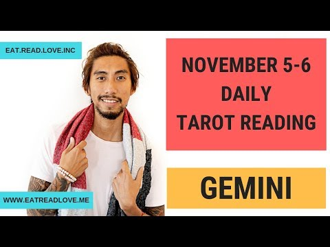 "GEMINI SOULMATE ""MR. RIGHT---NOW!"" NOVEMBER 5-6 DAILY TAROT READING"