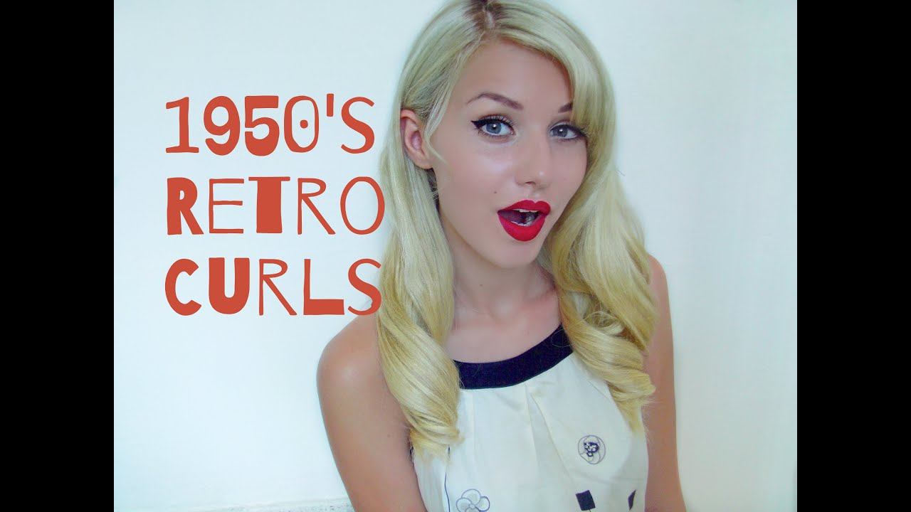 1950 s Retro Pin Up Curls using a Straightener Flat Iron