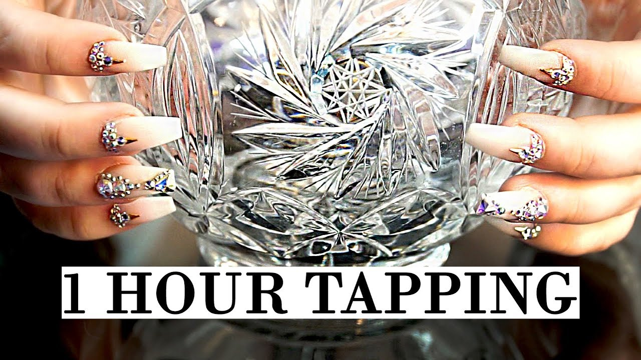 1 Hour ASMR Tapping Glamour Nails 2 NO Talking For Sleep