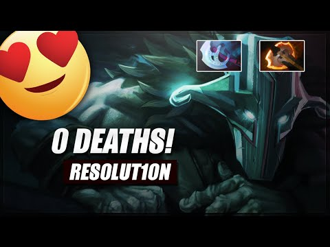 Resolut1on Juggernaut 0 deaths! | Dota Insane Gameplay
