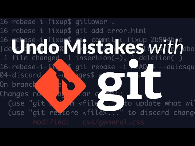 How to Undo Mistakes With Git Using the Command Line