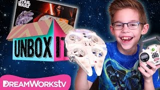 Star Wars Ultimate Millennium Falcon Quadcopter from Air Hogs with the HappyFamilyShow | UNBOX IT