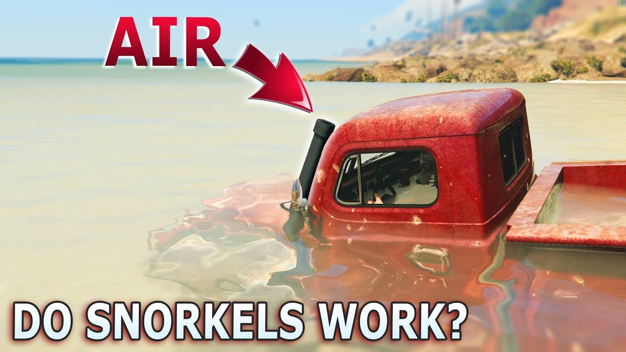 What To Do When Car Overheats >> GTA V - Do car Snorkels Work? - YouTube