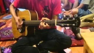 Rehearsal áo xanh Aof Guitar club