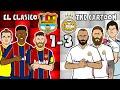 🔴🔵El Clasico - the cartoon!⚪⚪ 1-3 Barcelona vs Real Madrid (Goals highlights Ramos Messi Modric)