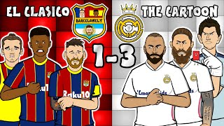 🔴🔵El Clasico - the cartoon!⚪⚪ 1-3 Barcelona vs Real Madrid (Goals highlights Ramos Messi Modric)
