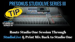 Presonus StudioLive - How To Route Daw Session & Print Mix in S1