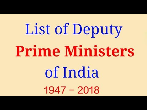 ✅List of all Deputy Prime Ministers of India till now in Hindi भारत के उपप्रधानमंत्री