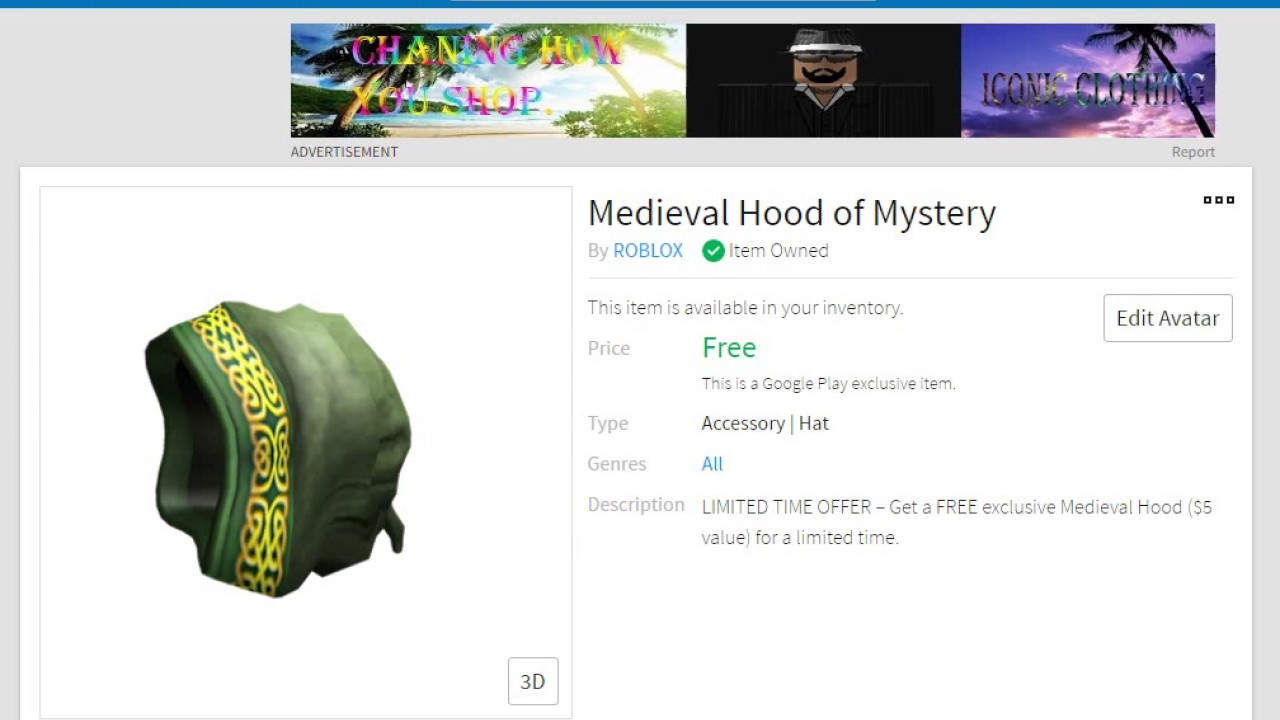 How to get Medieval Hood of Mystery [ RARE GOOGLE PLAY HAT ...