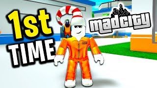 Playing For The First Time (Roblox Mad City)