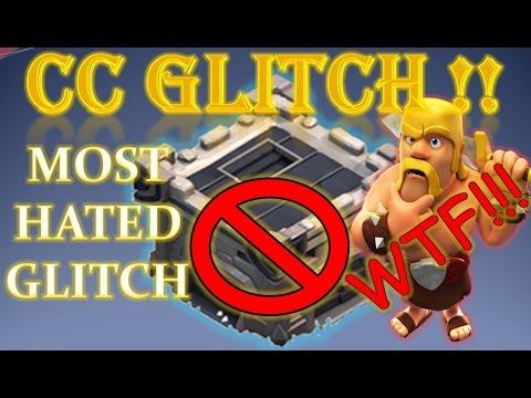CLASH OF CLANS - CLAN CASTLE  (CC) GLITCH - MOST HATED GLITCH EVER