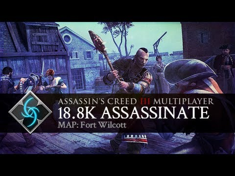 Assassin's Creed 3 - Multiplayer Gameplay - 18.8k Assassinate on Fort Wolcott