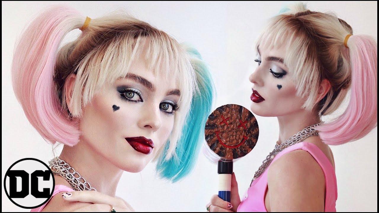 Harley Quinn Birds Of Prey Makeup Tutorial Cosplay Transformation 2020 Jackie Wyers Youtube
