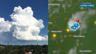 wetteronline.de: Mini-Gewitter bei München (30.07.2016)