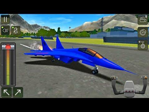 Flight Sim 2018 #70 - Airplane Simulator - Supersonic Blue Airplane - Best Android Gameplay