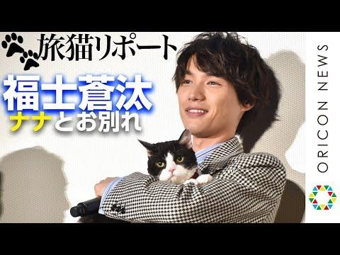 """福士蒼汰、猫""""ナナ""""との別れに寂しさ「ずっと一緒にいたいな」 映画『旅猫リポート』公開記念舞台あいさつ"""