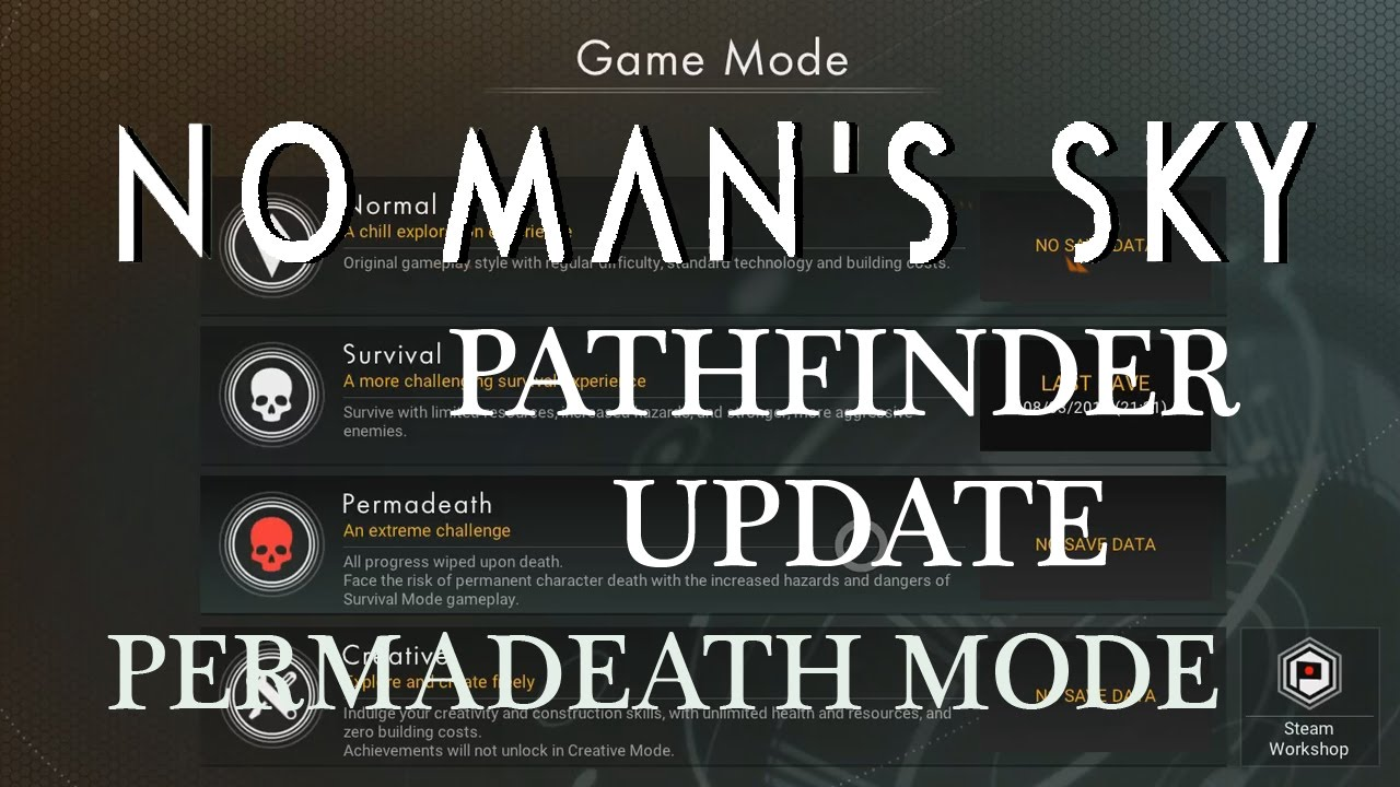 No Mans Sky Survival Pathfinder Update 12 Permadeath Mode Death In Space