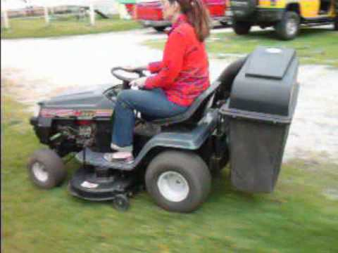 riding lawn mowers with bagger. mtd yard machines tractor with rear bagger riding lawn mowers